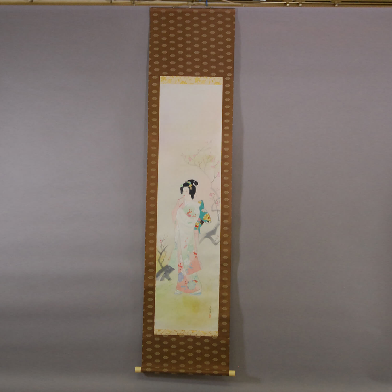Woman and Plum Blossoms / Hideharu Morita