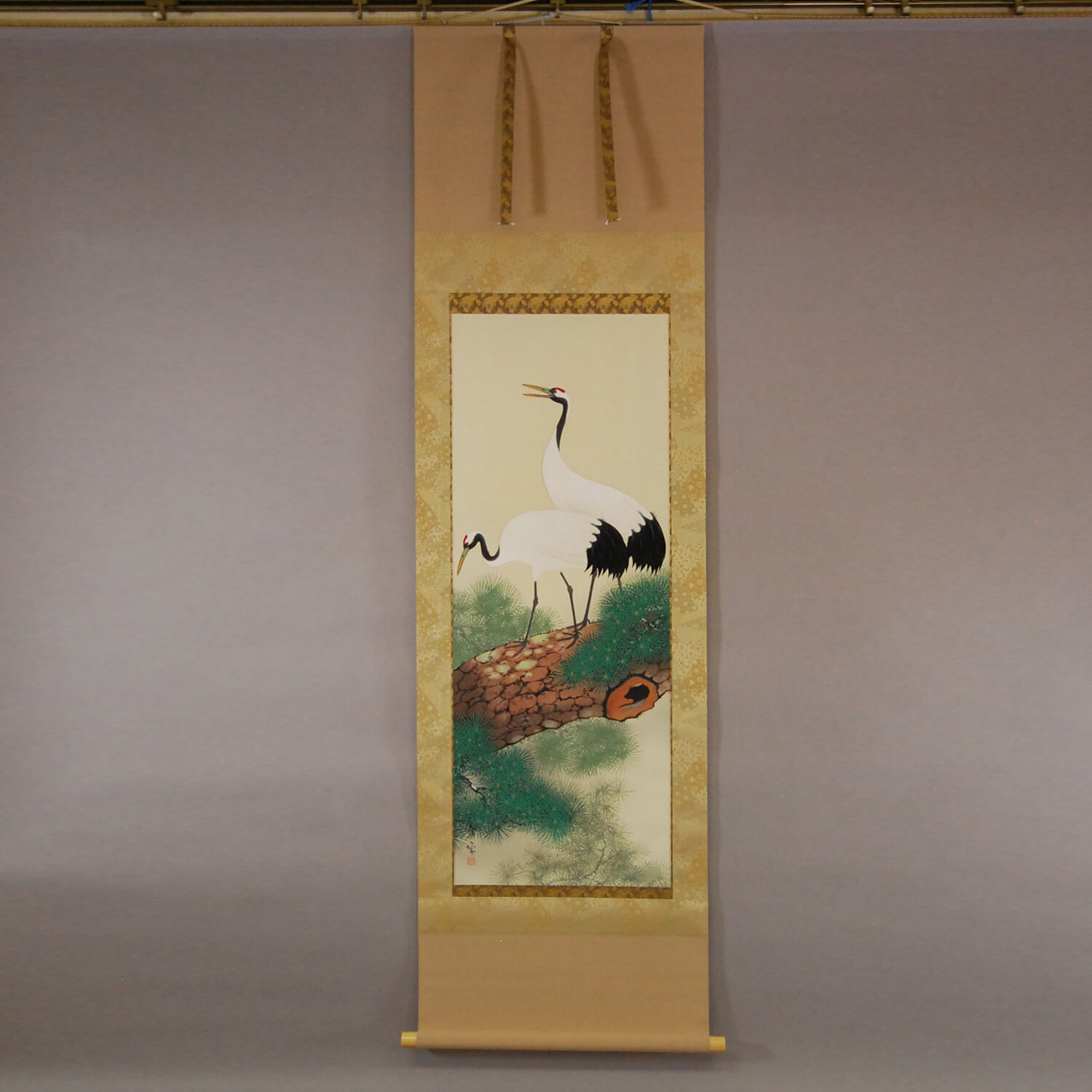 Cranes on the Trunk of a Pine Tree / Shuujou Inoue