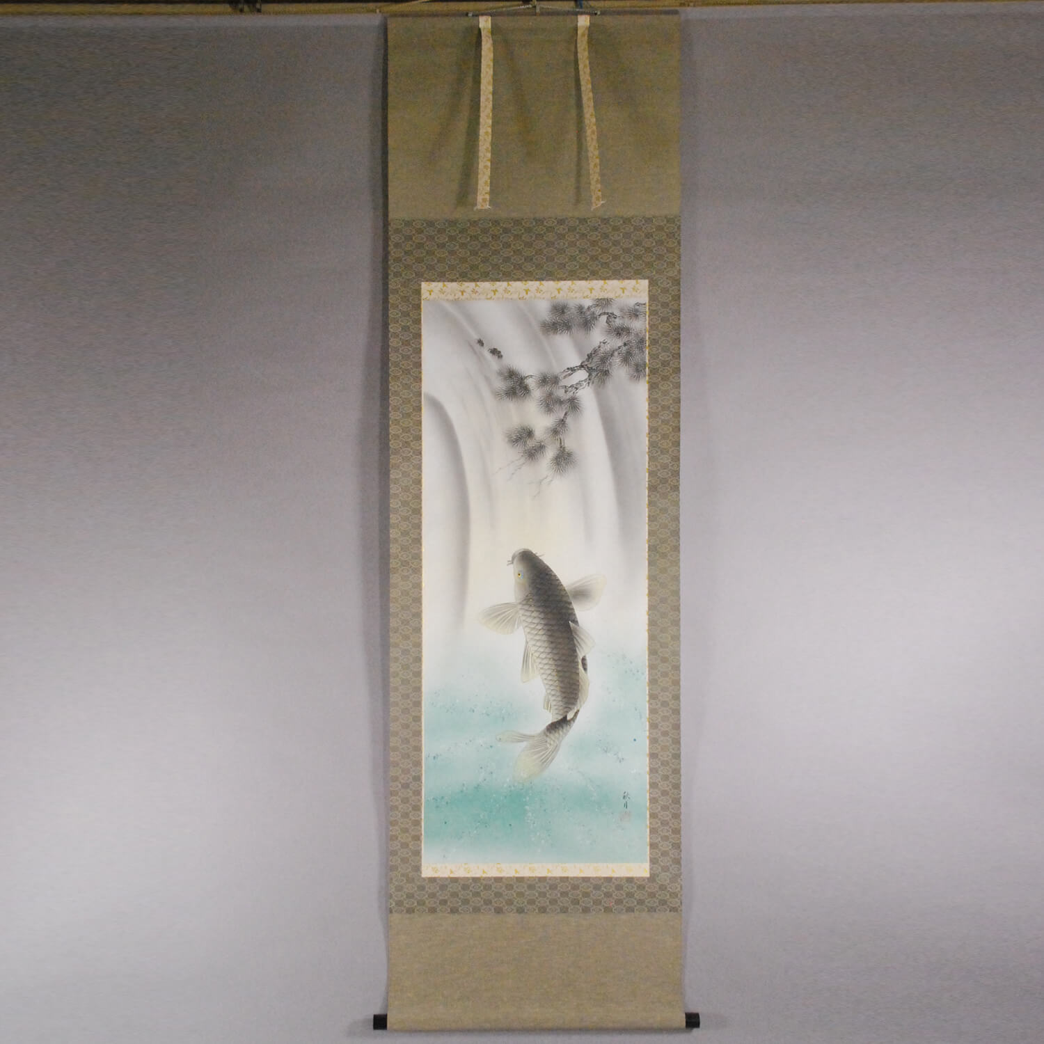 Koi Fish Shooting up a Waterfall / Shuugetsu Kawai