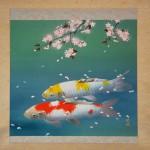 0055 Koi Fish (Carp): Cherry Blossoms / Shukou Okamoto 002
