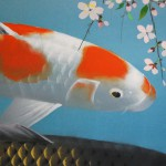 0056 Koi Fish (Carp): Cherry Blossoms / Shukou Okamoto 004