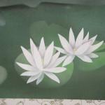 0079 Koi Fish (Carp): Water Lilies / Shukou Okamoto 006