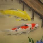 0080 Koi Fish (Carp): Japanese Irises / Shukou Okamoto 005
