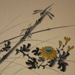 0103 Kakejiku with Chrysanthemum Sake Painting / Tekiho Imoto 005