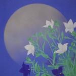 0104 Kakejiku with Mid-Autumn Moon Painting / Katō Tomo 004