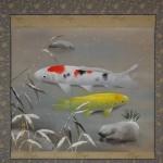 0118 Koi Fish (Carp): Snow Painting / Shukou Okamoto 002