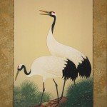 0124 Cranes on the Trunk of a Pine Tree Painting / Shuujou Inoue 003