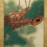 0124 Cranes on the Trunk of a Pine Tree Painting / Shuujou Inoue 004