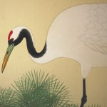 0124 Cranes on the Trunk of a Pine Tree Painting / Shuujou Inoue 006