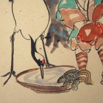 0129 Child in an Old Fashioned Style: a Crane and a Turtle Painting / Katsunobu Kawahito 004