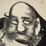 0132 Bodhidharma: Jakunen-fudou Painting / Sokushuu Akiyoshi 004