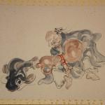 0161 Gourd and Catfish Painting / Katsunobu Kawahito 003