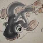 0161 Gourd and Catfish Painting / Katsunobu Kawahito 006