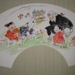 0164 Ryoukan: Gathering Flowers Painting / Katsunobu Kawahito 003