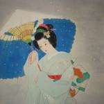 0122 Beautiful Woman Painting: Snow / Hideharu Morita 003