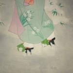 0122 Beautiful Woman Painting: Snow / Hideharu Morita 005