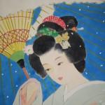 0122 Beautiful Woman Painting: Snow / Hideharu Morita 006