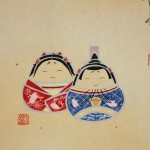 "0149 ""Hina"" Daruma Dolls Painting / Suikou Saitou & Houen Kusunoki 005"