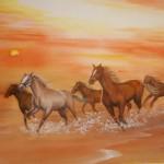 0169 Horses Painting / Kahou Sakurai 003