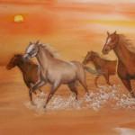 0169 Horses Painting / Kahou Sakurai 004