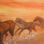 0169 Horses Painting / Kahou Sakurai 005