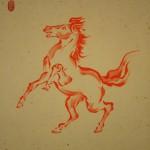 0170 Red Horse Painting / Myoujun Shiozawa 003