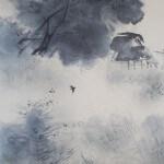 "b0002 Landscape Painting in ""Sumi"" Ink / Shikou Okamoto 005"