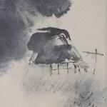 "b0002 Landscape Painting in ""Sumi"" Ink / Shikou Okamoto 006"