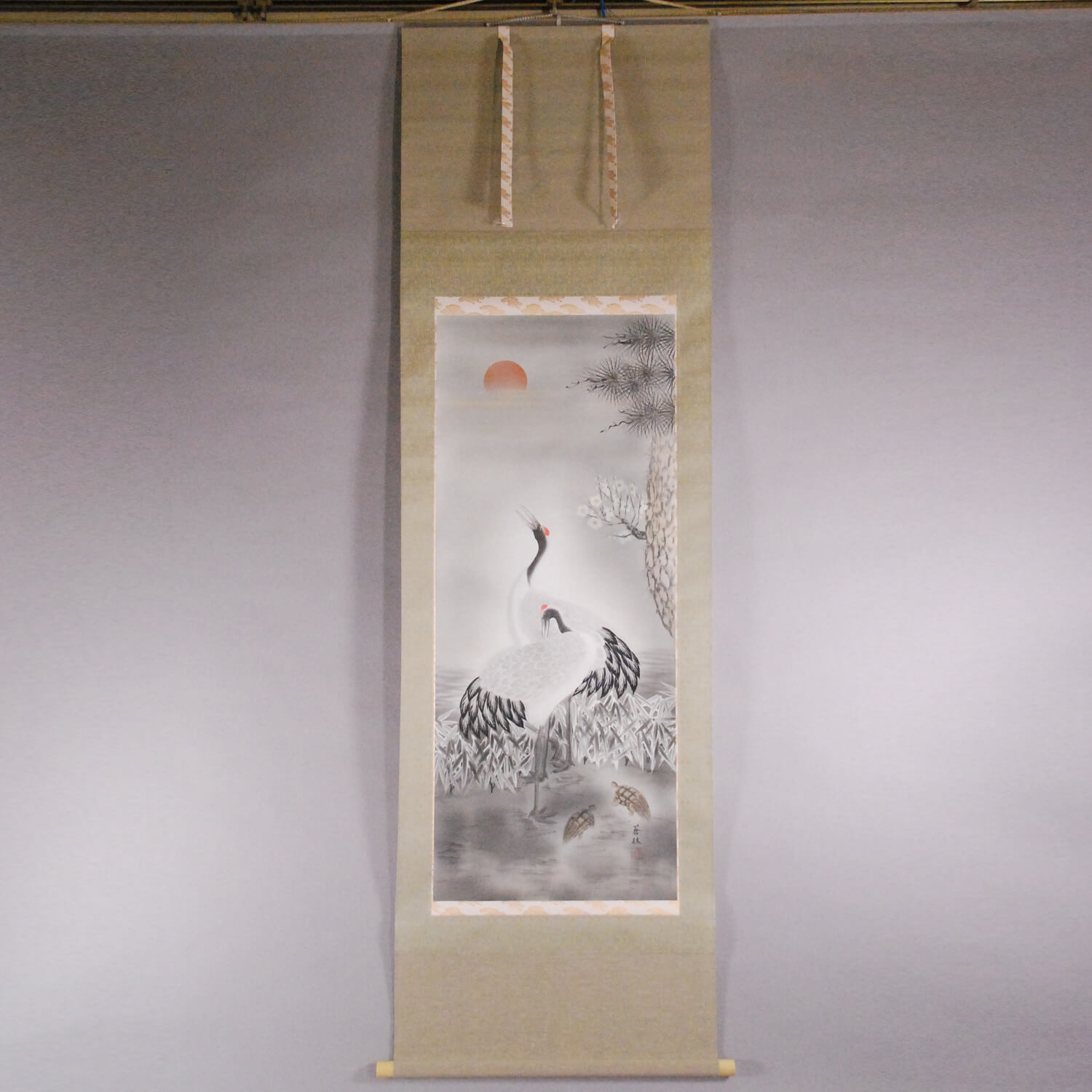 The Combination of Pine, Bamboo, Plum Trees, Cranes and Turtles / Sourin Fujishima