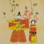 b0018 Hina Dolls in Standing Poses / Shunkou Masuda 004