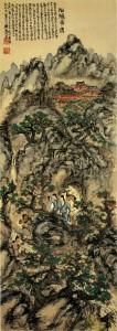 Encountering with Immortal Women / Tessai Tomioka Painting of Kyoto School