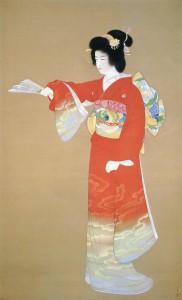 Noh Dance Prelude / Shouen Uemura Painting of Kyoto School