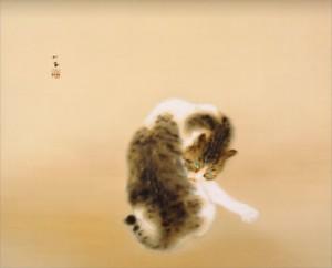 Tabby Cat / Seihou Takeuchi Painting of Kyoto School
