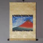 Ukiyo-e Kakejiku Hokusai Katsushika South Wind, Clear Sky (Red Mt. Fuji) picture002