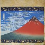 Ukiyo-e Kakejiku Hokusai Katsushika South Wind, Clear Sky (Red Mt. Fuji) picture003