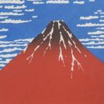 Ukiyo-e Kakejiku Hokusai Katsushika South Wind, Clear Sky (Red Mt. Fuji) picture004