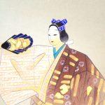 Noh painting kakejiku hanging scroll hibariyama
