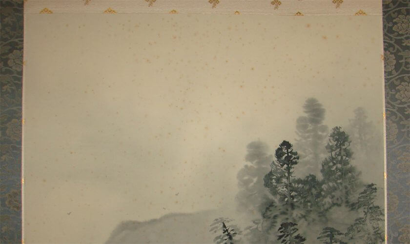 Removal Stain remove restoration restore kakejiku Japanese antique hanging scroll kakejiku