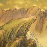 Baisen Hirai 平井楳仙 Landscape Kakejiku Scroll