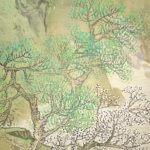Kotei Fukui Landscape Hanging Scroll Kakejiku
