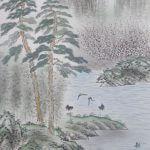 Landscape Painting: Mt. Penglai Hōrai-san Kakejiku Hanging Scroll