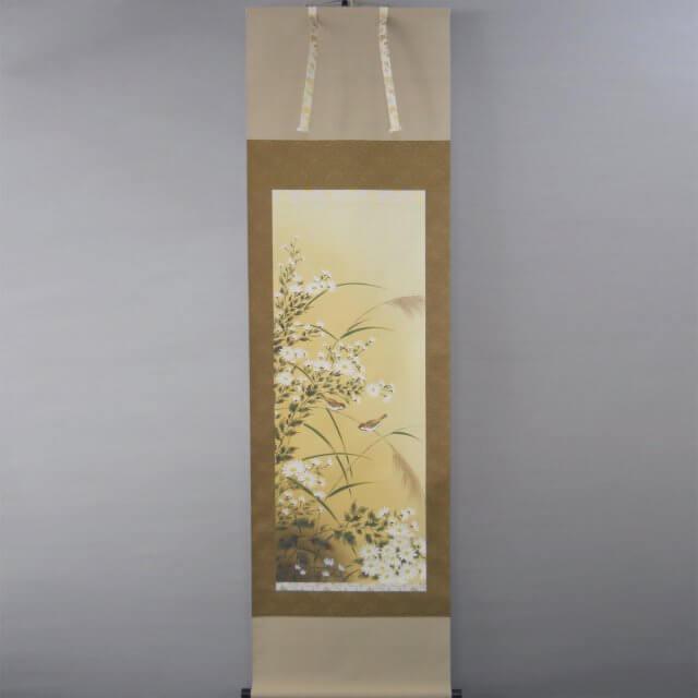 Shoun Ogiso Nogiku Chrysanthemum Hanging scroll