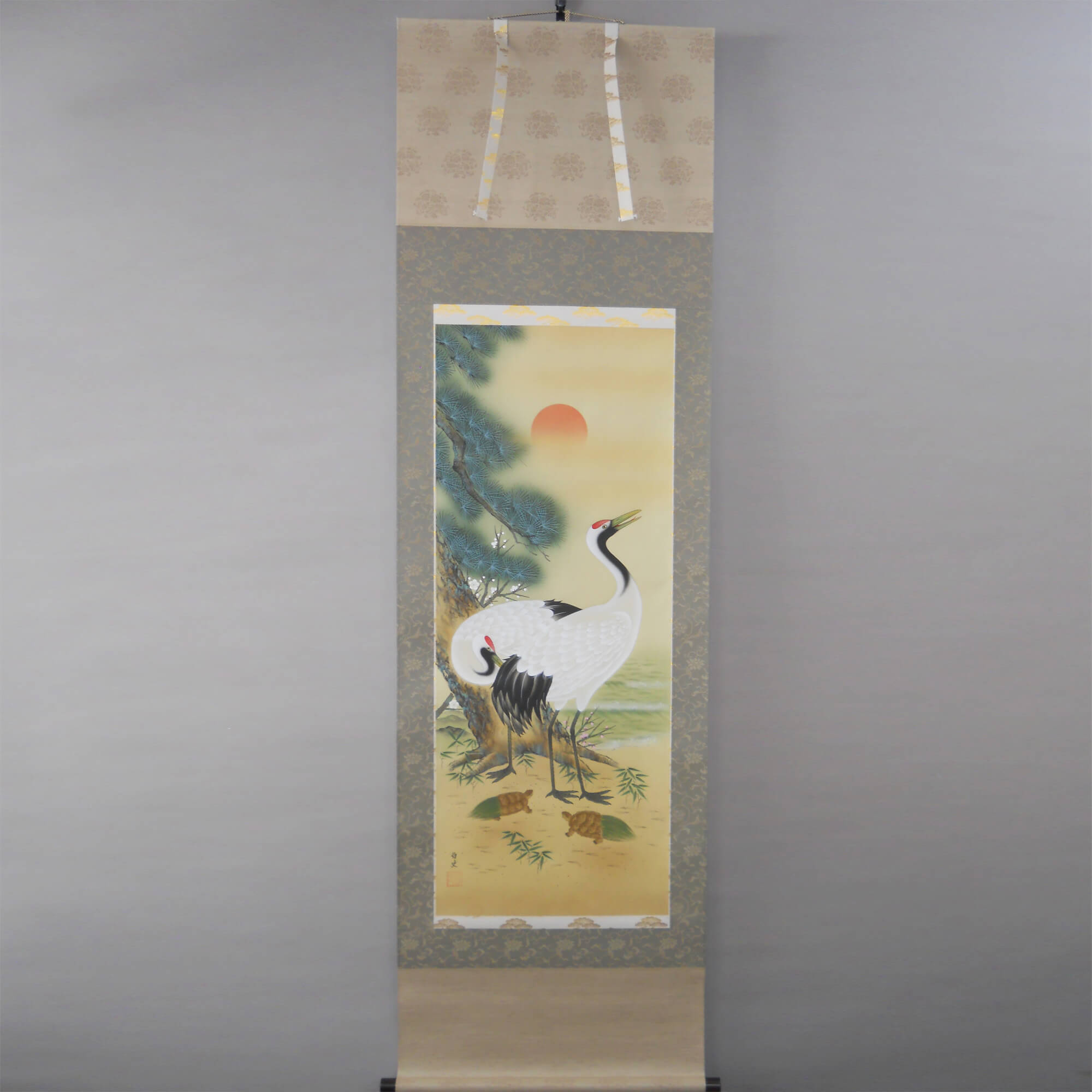 The Combination of Pine, Bamboo, Plum Trees, Cranes and Turtles / Satoshi Okuhira