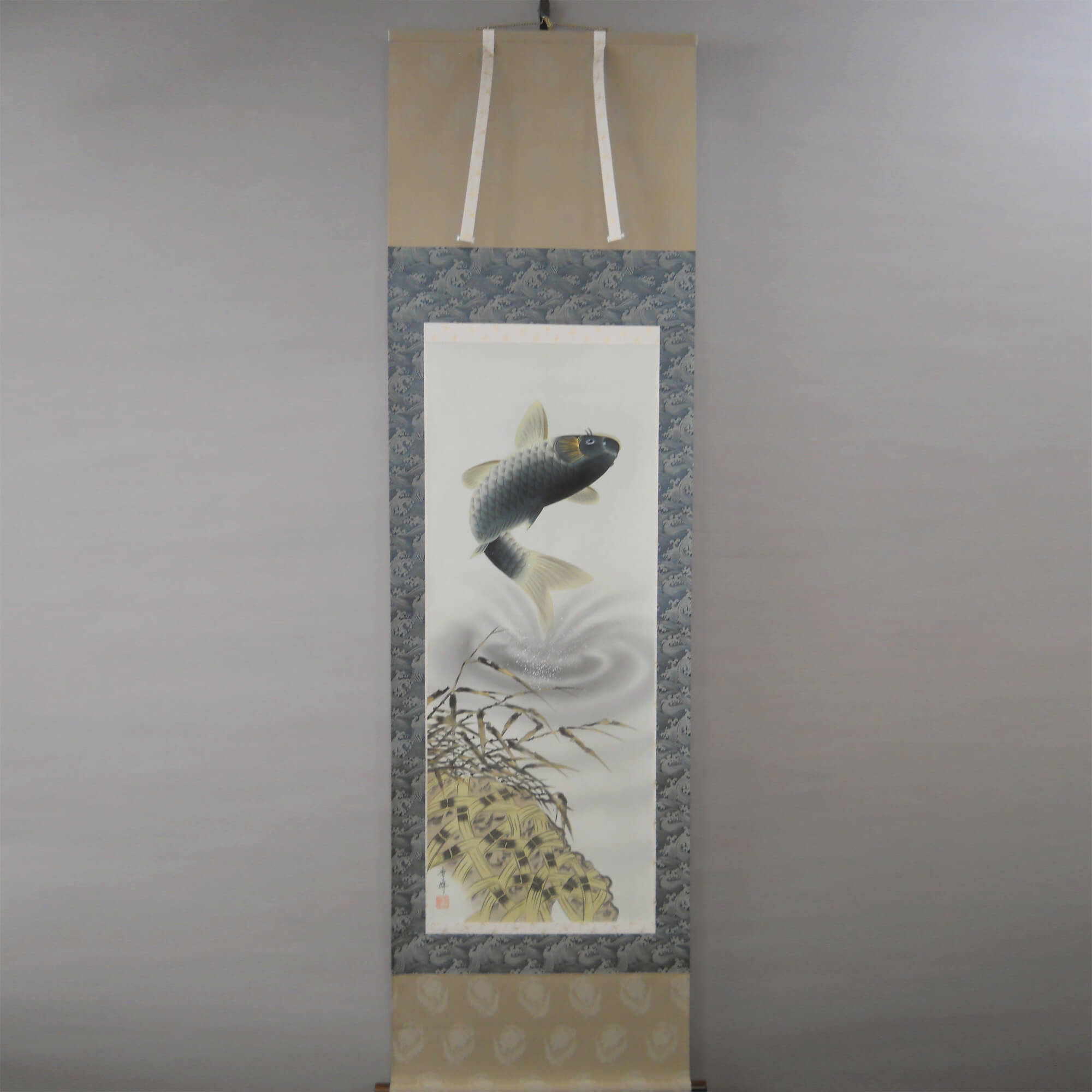 Koi Fish (Carp) Jumping out of the Water / Shūhō Inoue