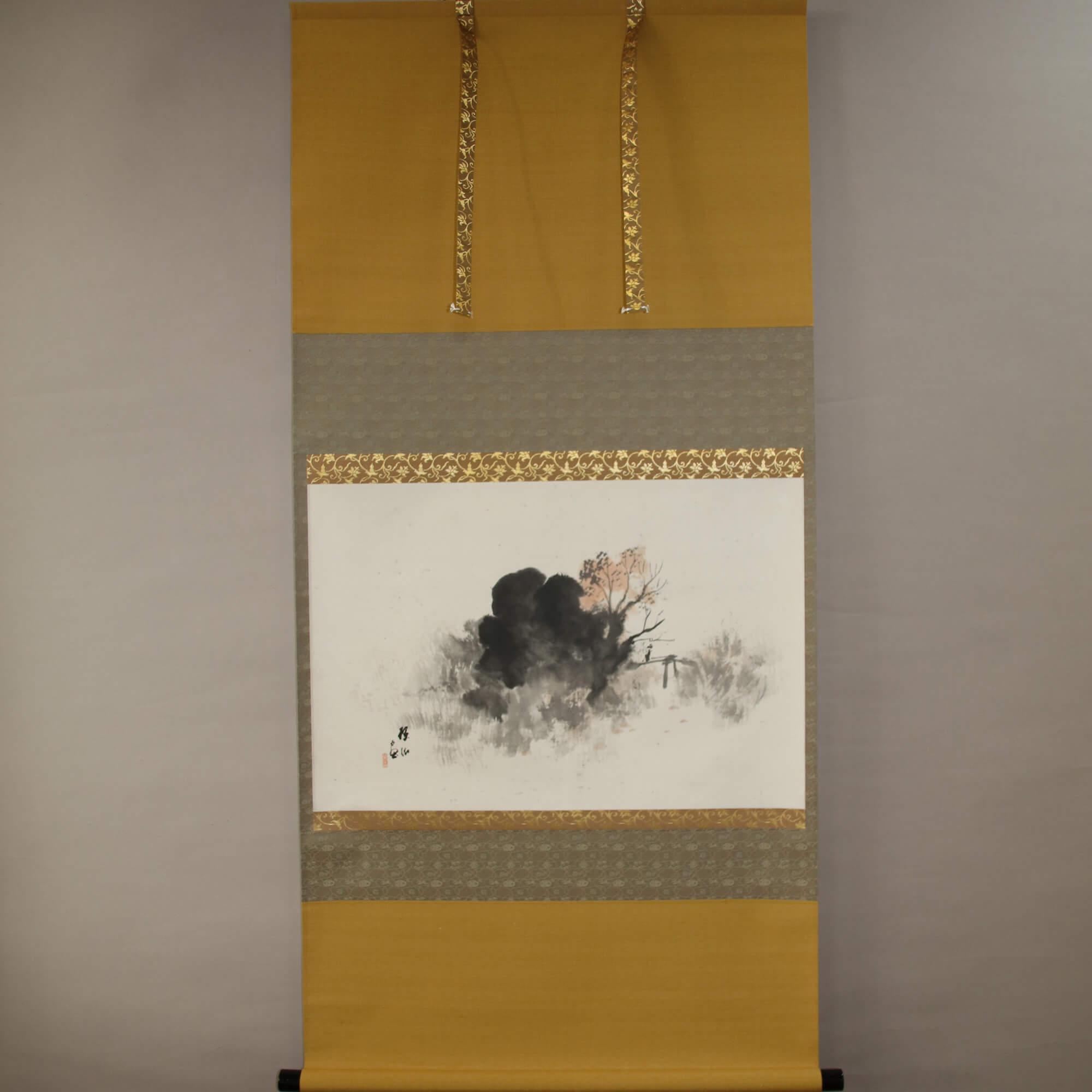 Landscape Painting : Pound Edge & Autumn Scenery / Hirai Baisen