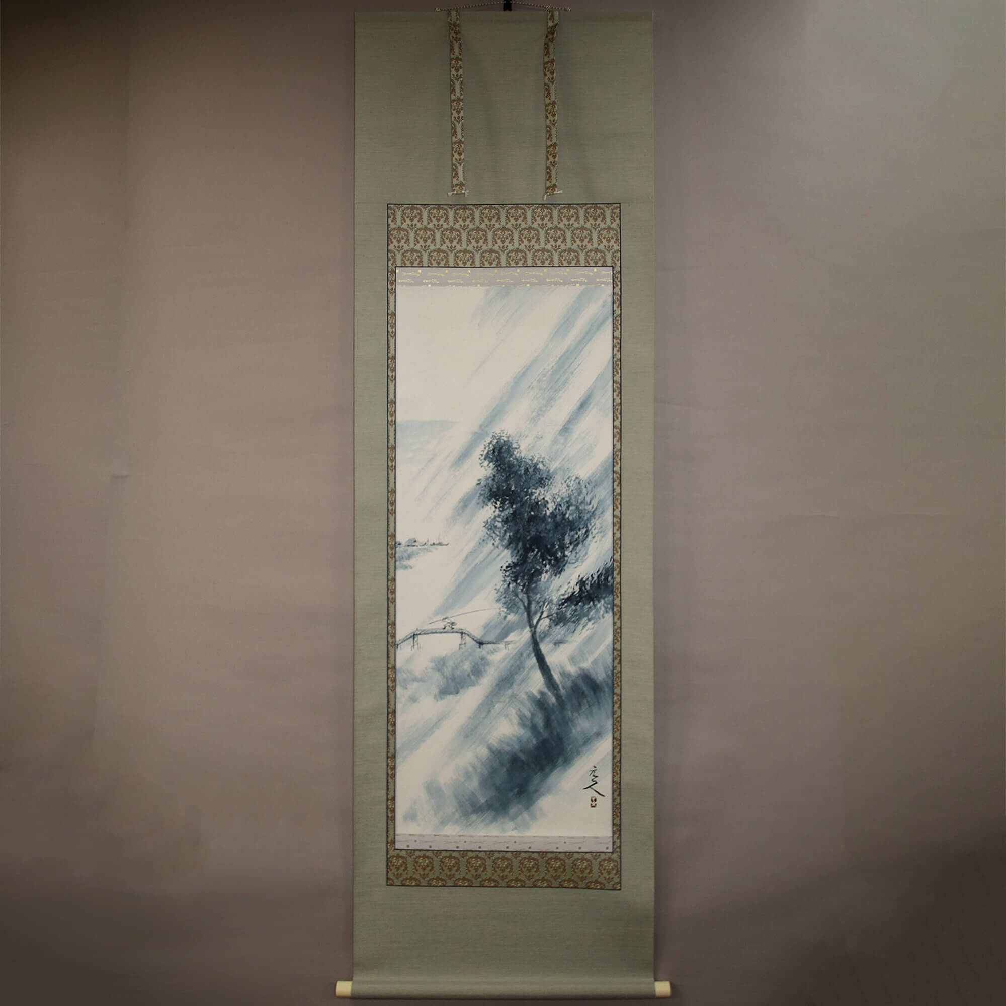 Landscape Painting: Sudden Rain Shower / Sugihara Genjin