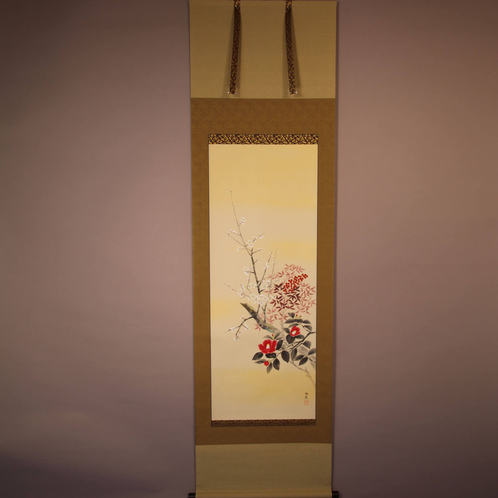 Three Plants in Early Spring / Miyake Wakō