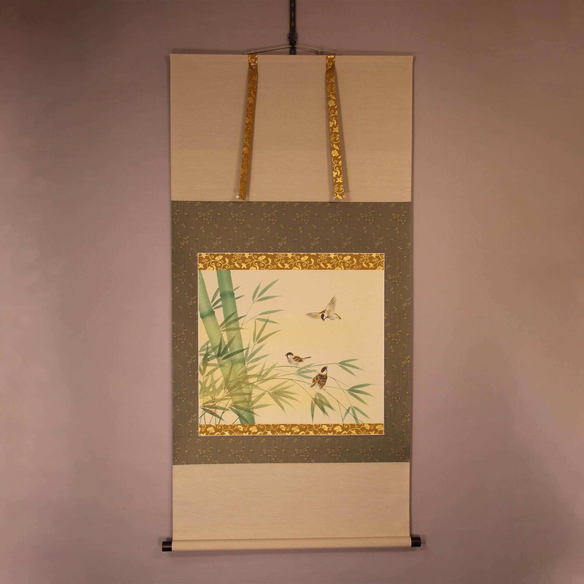 Bamboo and Sparrow / Miyake Wakō