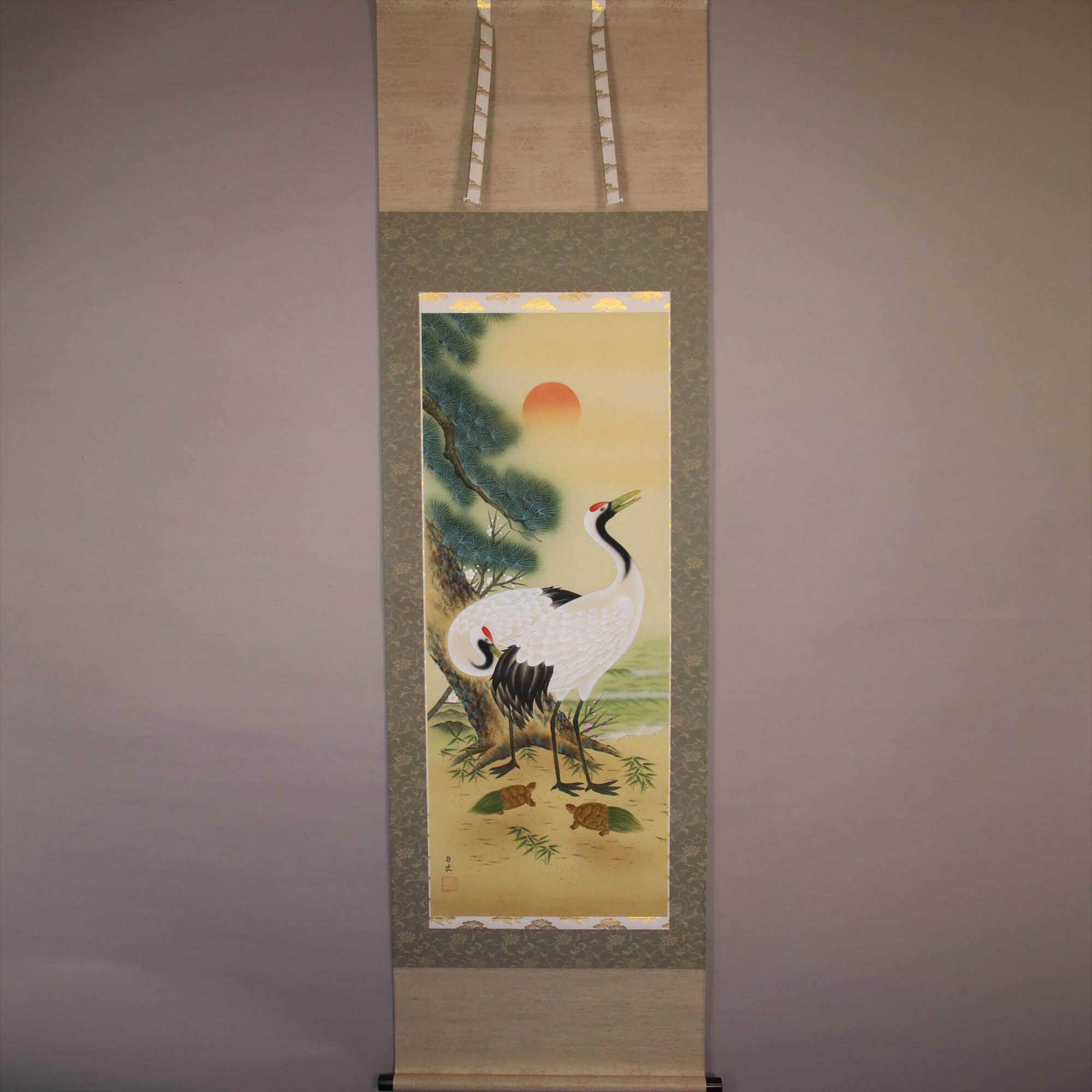 Okuhira Satoshi / Pine, Bamboo and Plum & Crane and Tortoise