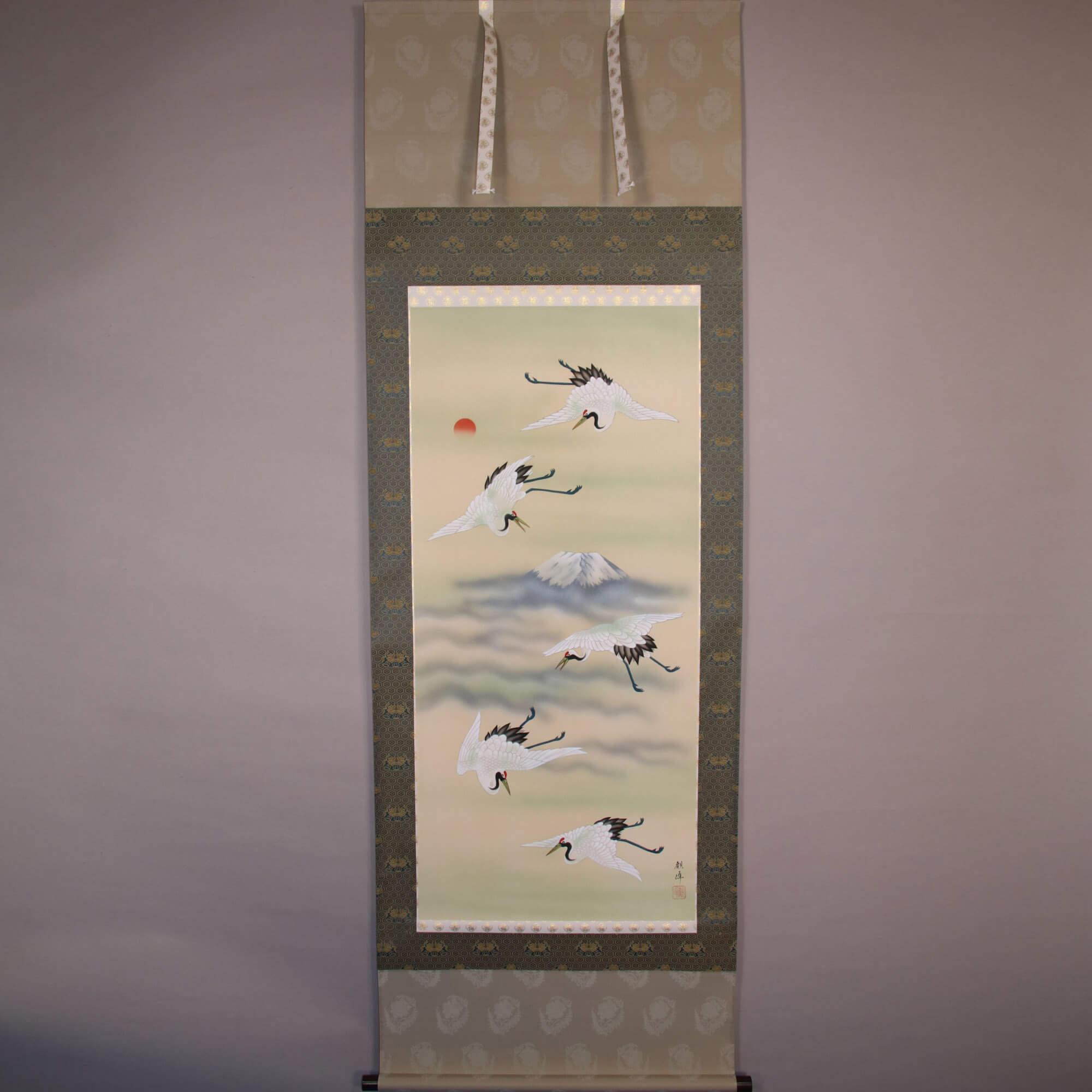Cranes Dancing in the Sky / Kawamura Kanpō